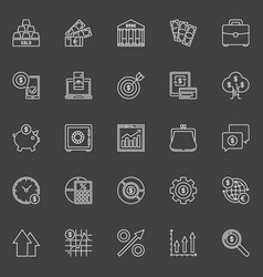 investment and business outline icons vector image vector image