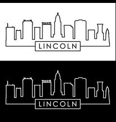 lincoln skyline linear style editable file vector image vector image