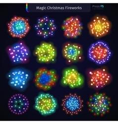 Magic Christmas Fireworks vector image vector image