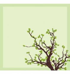 spring tree corner vector image