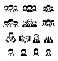 business team staff icon vector image