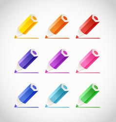 Collection of crayons with color traces vector image
