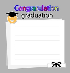 Congratulation graduation background vector image vector image