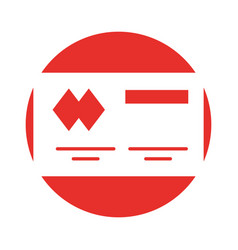 Credit card isolated icon vector