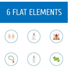 flat icons ramadan kareem palm arabian and other vector image vector image