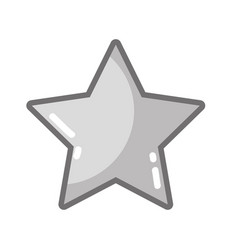 grayscale rating star symbol and element status vector image vector image