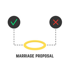 selection like marriage proposal vector image