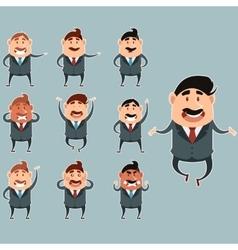 Set of business men3 vector image vector image
