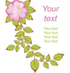 vector flower postcard vector image vector image