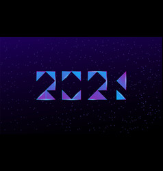 2021 text design for new year banner abstract vector image