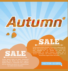 abstract colorful autumn sale poster vector image