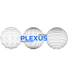 Abstract spherical plexus design elements set vector
