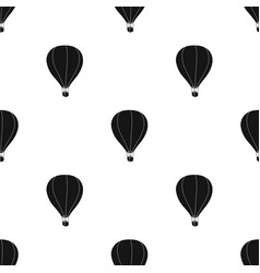 Airballoon icon in black style isolated on white vector
