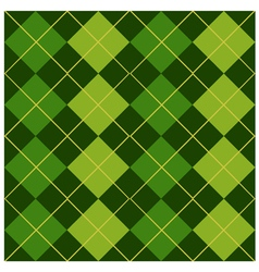 Argyle Green Design vector image