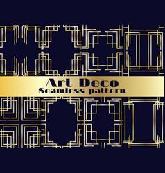 art deco seamless pattern set vintage background vector image