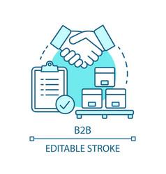 B2b concept icon vector