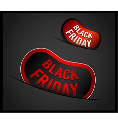 Black Friday Super Sale promotional Stick banners vector image