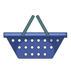Blue shopping basket icon cartoon style vector