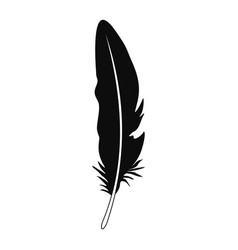 bohemian feather icon simple style vector image