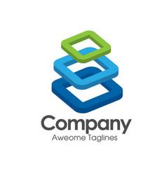 Building blocks logo vector