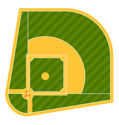 Cartoon baseball field batting design vector
