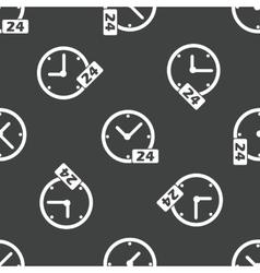 Clock 24 pattern vector image