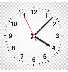 clock icon office clock on isolated background vector image