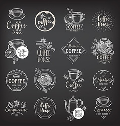 Coffee restaurant cafe badges template design vector
