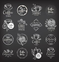 Coffee restaurant cafe badges template design vector image