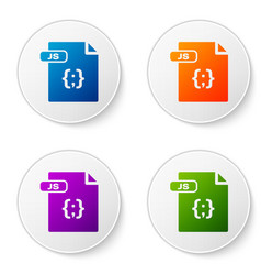 Color js file document download js button icon vector