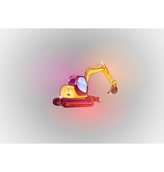 Construction abstract excavator glitter vector