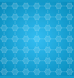 decorative snowflake pattern background vector image