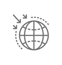 Destruction ozone layer line icon vector