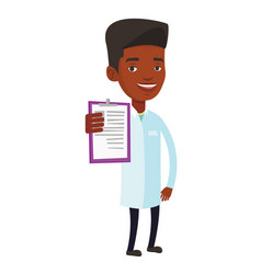 Doctor with clipboard vector