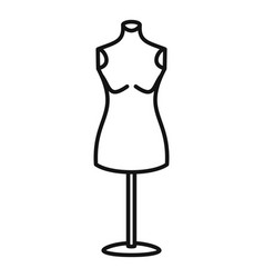 Dress mannequin icon outline style vector