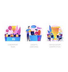 e-games tournament abstract concept vector image
