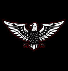eagle sign on black background design element for vector image