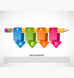 Educational infographics template with colored vector
