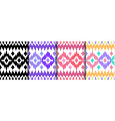 Ethnic seamless patterns set for home textile vector