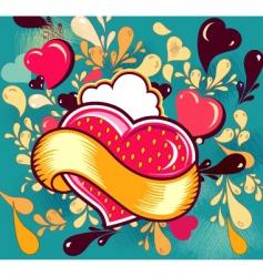 fashion heart design vector image