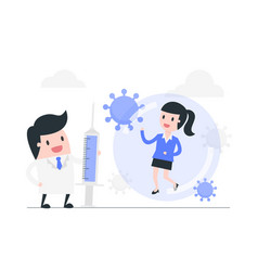 Fight against coronavirus concept vector