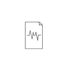 Files pulse sign icon vector