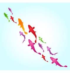 Fish swimming background vector image