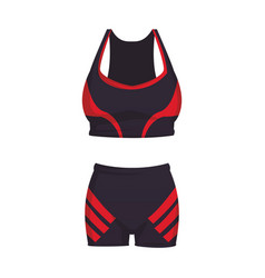 Fitness clothes for women vector
