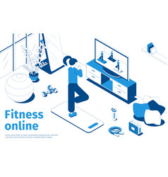 Fitness online isometric composition vector