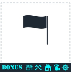 Flag icon flat vector