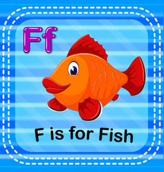flashcard letter f is for fish vector image