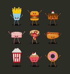 food character design vector image