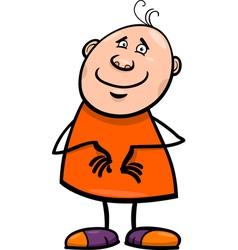 Funny happy man cartoon vector