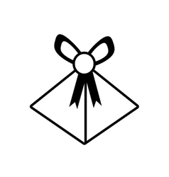 gift box wedding present icon outline vector image